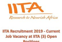 IITA Recruitment 2020 Application Form Portal | www.jobs.iita.org